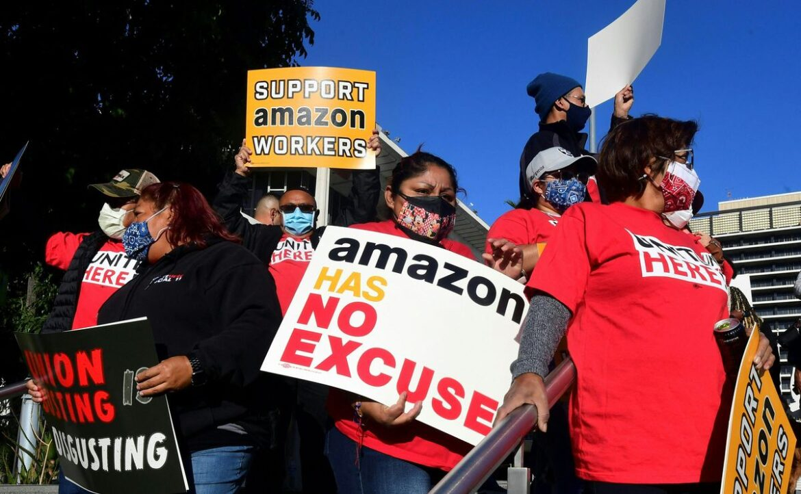 Biden Supports Historic Union Vote That Amazon Is Opposing Fiercely